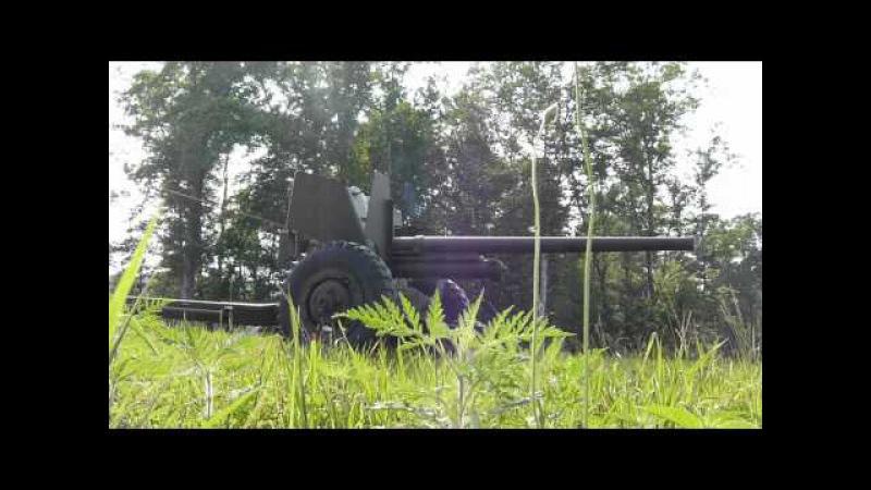 US WWII M1 57mm Anti Tank Gun TEST FIRING