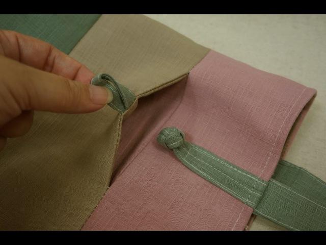清秀佳人布坊 手作教學 隱形插式口袋與鈕扣結作法