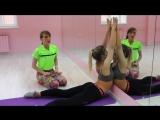 На шпагате Упражнения на разогрев и укрепление мышц спины Урок 2