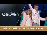 Walter &amp Kazha - The War Is Not Over (Latvia) Live - Eurovision Song Contest 2005