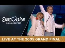 Walter Kazha - The War Is Not Over (Latvia) Live - Eurovision Song Contest 2005