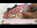 Speed drawing - Kaneki, Natsu and Naruto with Copics