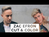 Zac Efron Blonde Balayage  Men's Haircut &amp Style