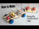 How to Make a Car With Remote Controlled Out of Popsicle Sticks Tutorial