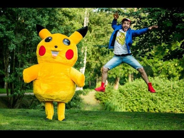 Блогер GConstr восхищается! Поймать Пикачу / Pokemon Go Prank. От Rakamakafo