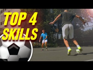 Learn 4 Amazing Futsal Skills & Football Tricks - Tutorial
