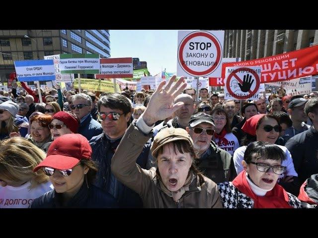 Митинг против реновации против сноса домов в Москве Прямая трансляция