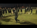 По традиции на своей первой тренировке в Тереке новички исполняют какой либо танец