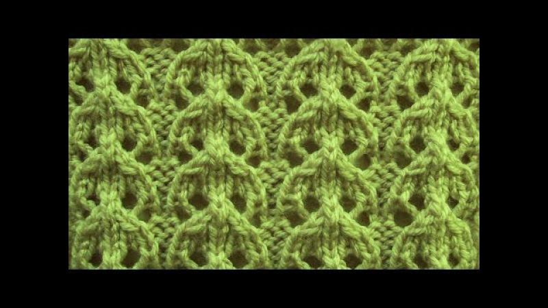Ажурный узор Дорожки Вязание спицами Видеоурок 72