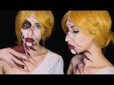 Attack on Titan Titan ShifterAnnie Leonhardt Inspired Makeup Courtney Little