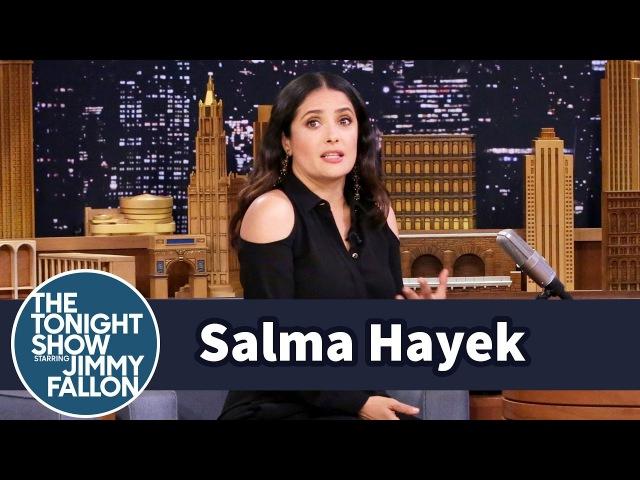 Сальма Хайек The Tonight Show Starring Jimmy Fallon 2017