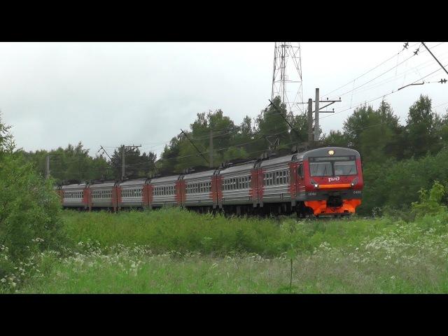Электропоезд ЭД4М-0469 перегон Вербилки - Каналстрой