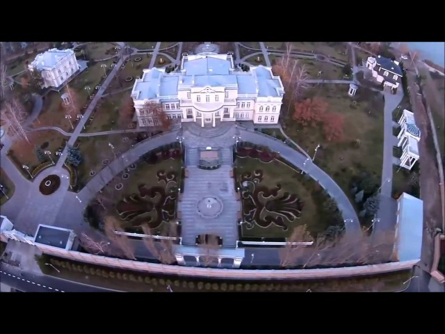 Владения Петра Алексеевича Порошенко под Киевом с высоты птичьего полета