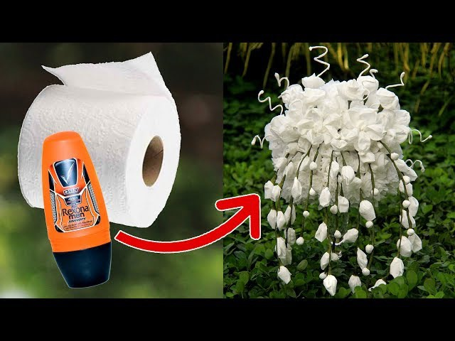 7 Toilet Paper Flowers Tutorial