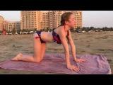 Тренировка на закате ? ? пляж Дубай ? Мартин Мир Гимнастики ❤️