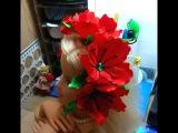 Обруч с маками. Канзаши. Wrap with poppies. kanzashi.