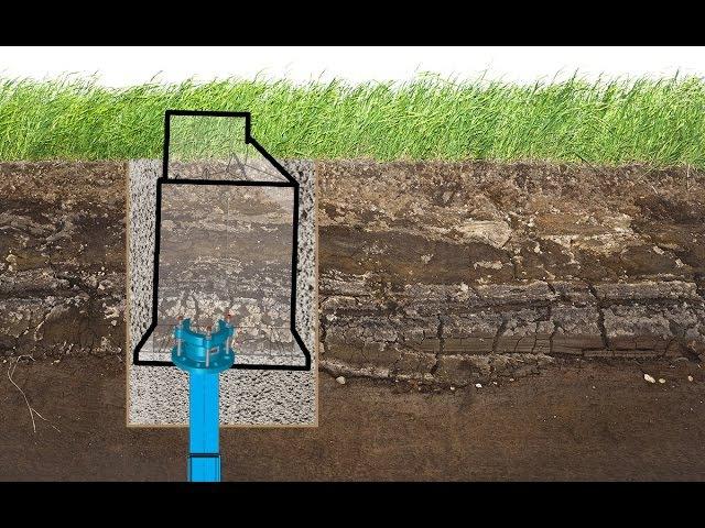 Монтаж пластикового кессона с низким УГВ
