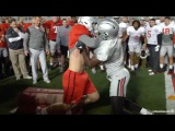 Ohio State coaches vs. players meet on the goal line ??