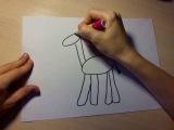 Нарисовать жирафа