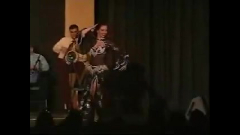 Amani Lebanese Belly dancer in a Solo Tabla from A to Z - 1996 8721