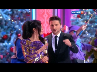Парад звезд 2016-12-31 Сергей Лазарев и Нюша - представление гостей