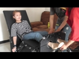Chinese female student foot tickle