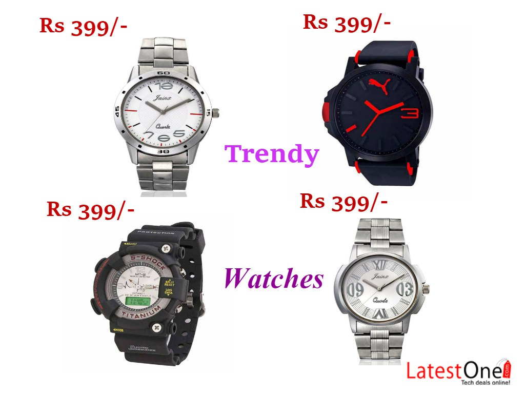 Trendy fashionable mens watches