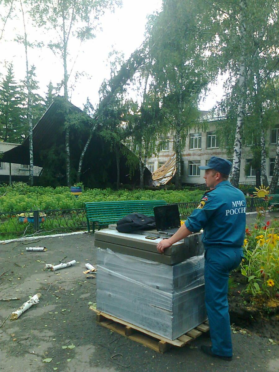 Ветер снёс крышу с Беловского дома-интерната