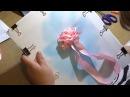 ВЫШИВКА ЛЕНТАМИ Розы урок 1 от Наталии Уритян