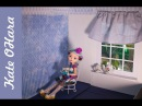Дом для кукол из обувной коробки. Раскладной румбокс. Dollhouse hand made.