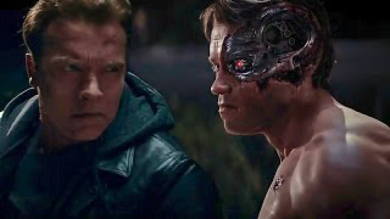 Terminator Genisys | Old vs Young Arnold Fight | Arnold Schwarzenegger Ive Been Waiting For You