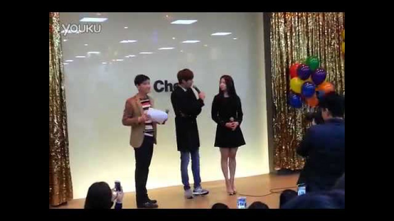 131212 Lee Min Ho Park Shin Hye at Auction venue - Cheil Worldwide (by Sangmin)