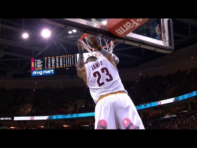 Deron Williams to LeBron James inbound pass and dunk (alley oop)