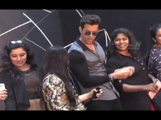 Bollywood Hero Hrithik Roshan Hungama In Hyderabad   Studio N