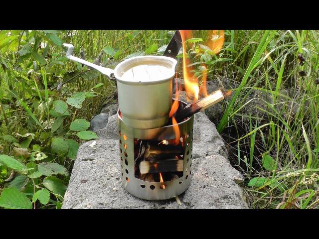 Печка-щепочница. Бомжепечка от икеи. Изготовление и тест