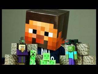 Майнкрафт Конструктор из Бумаги. Бумажный Minecraft Видео для Детей. Игрушки