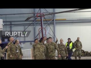 Латвия: НАТО «Чёрный Ястреб» вертолёты прибывают в Ригу.