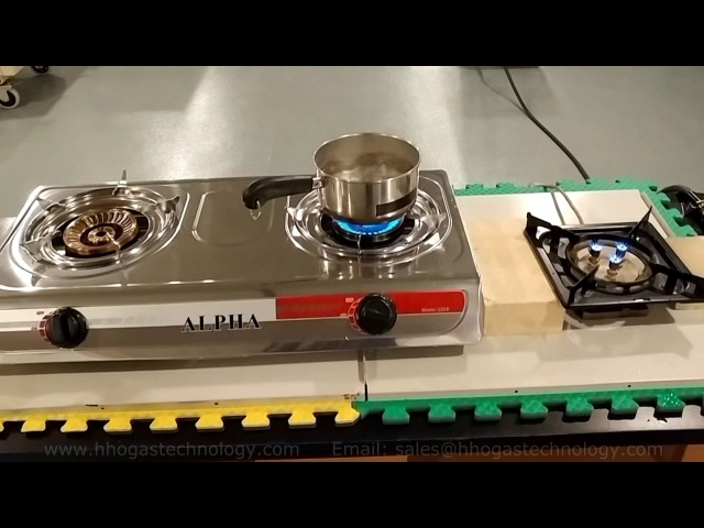 HHO Gas Stainless Steel Countertop Cooking Stove - HHO Gas Comparison to Propane Fuel 3-10-2017