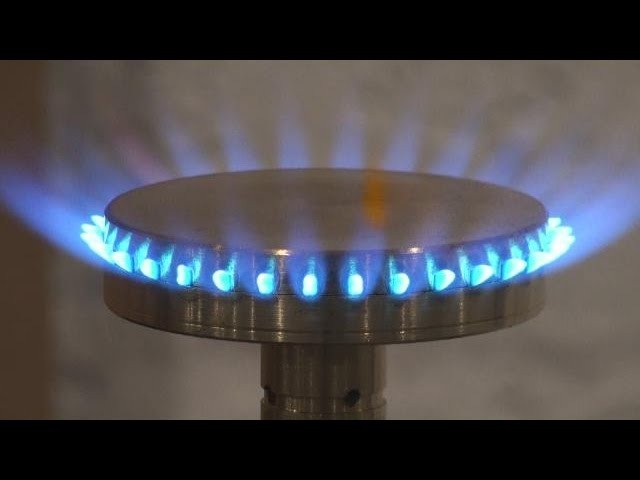 Part 4 of 4 HHO Gas 4 Burners Comparison HHO Gas Coleman camping fuel or hexane fuel 3-18-2015