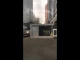 29.05.2017 Ураган в Москва-Сити сдул будку :)