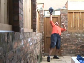 Rob Russell 60kg Bottoms Up Kettlebell Press BUP