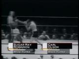 Шугар Рэй Робинсон - Карл Олсон III / Sugar Ray Robinson vs Bobo Olsen III