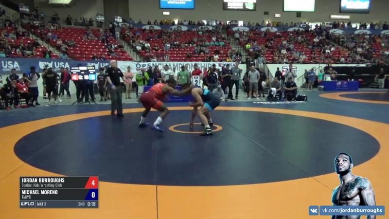 18 - Jordan Burroughs (Sunkist Kids WC) vs. Michael Moreno (TMWC)