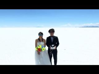 Свадебное путешествие вокруг света сняли на квадрокоптер.