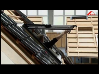 RU - Монтаж мансардного окна Roto Designo R8