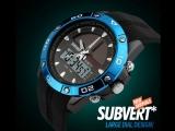 Мужские кварцевые наручные часы SKMEI 1064 на солнечной батареи с двойным циферблатом. Полный обзор и настройка. Купить на AliEx