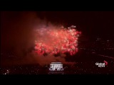 Fireworks at Trump rally light up the sky above Lincoln Memorial