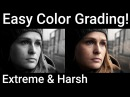 After Effects Color Grading Tutorial EXTREME Harsh Color NO PLUGINS 100% After Effects