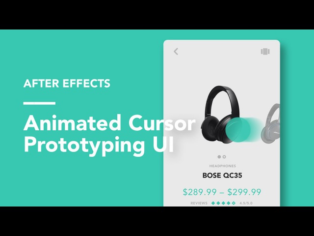 After Effects Animated Cursors UI Prototyping