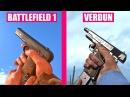 BATTLEFIELD 1 Gun Sounds vs Verdun